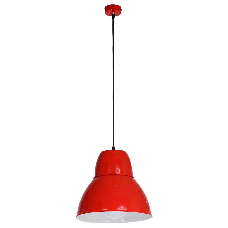 Retro Pendelleuchte Rot knallig Ø26cm Küche Esstisch
