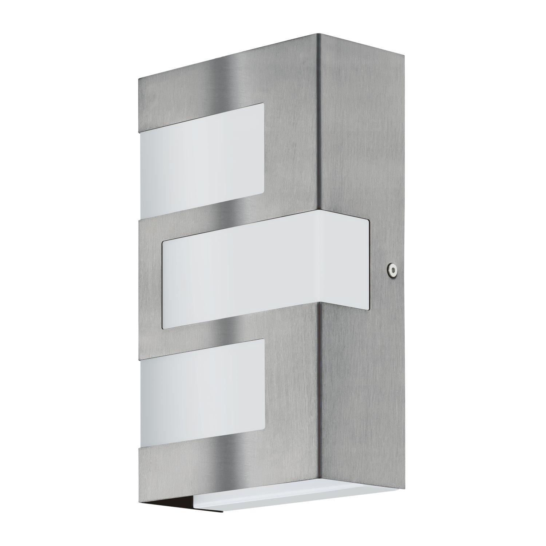 Rechteckige Wandaußenlampe LED  Ralora Weiß 3-Flmg