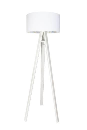 Stehlampe Weiß Rauten Holz 140cm Kinder Mädchen