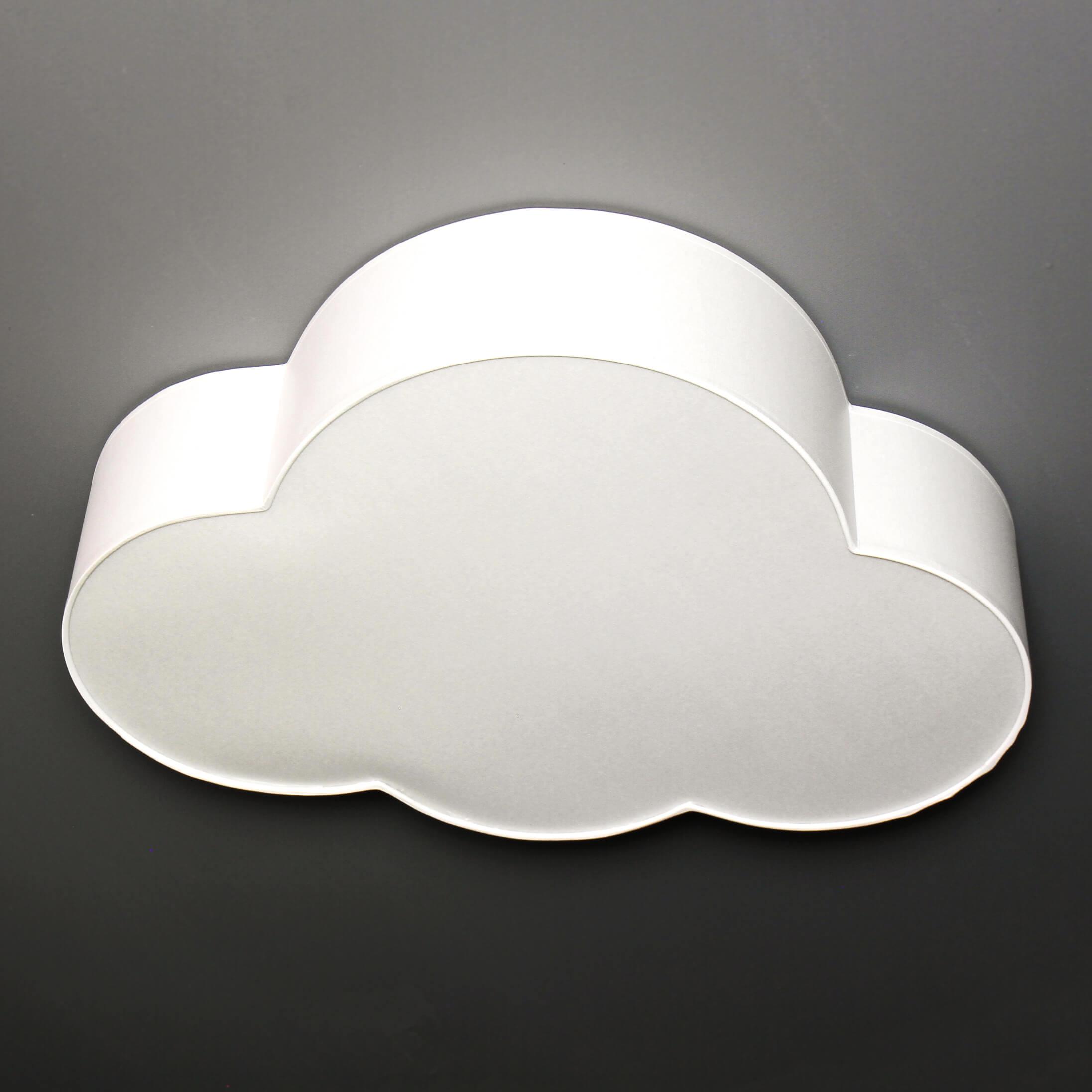 Weiße Deckenlampe Kinderzimmer WOLKI 4-flmg L62cm