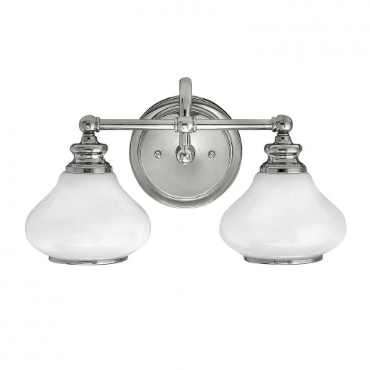 LED Badezimmerleuchte IP44 in Chrom Weiß blendarm