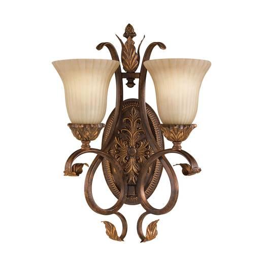 Wandlampe ANABELL 10 in Bronze 2-flammig Leuchte