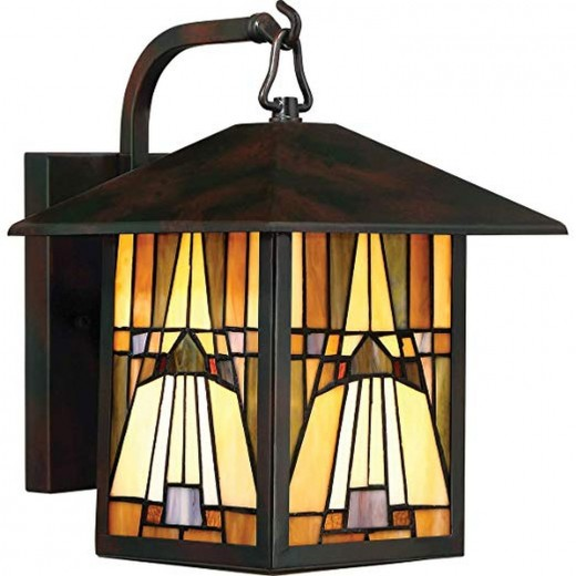 Wandlampe Außen Tiffany Stil MISSY Haus Hof