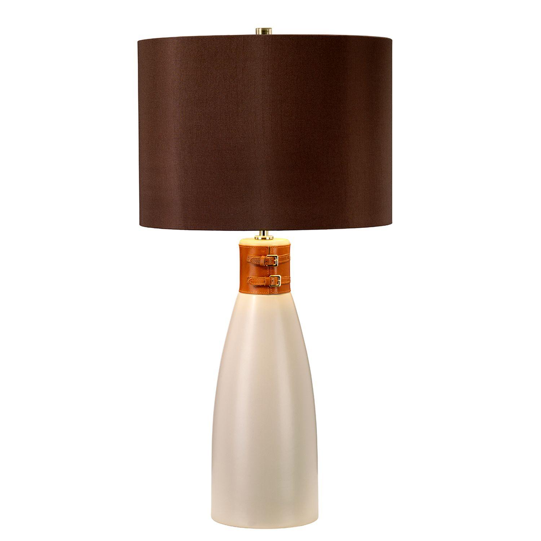 Tischlampe INCA Braun Keramik 71cm Klassisch Lampe
