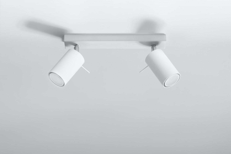 Aufbau Spotstrahler ETNA in Weiß 2-flmg