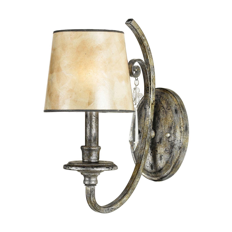 Wandlampe ANABELL 6 Blattsilber Micaglas Lampe