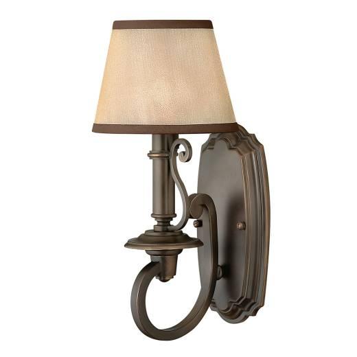 Rustikale Wandlampe ANABELL 9 in Bronze B:17 Lampe