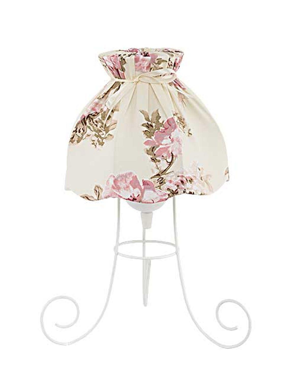 Romantische Tischleuchte FANNY Weiß Creme Landhaus