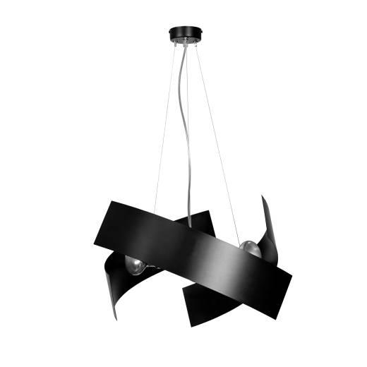 Design Hängeleuchte Schwarz Metall höhenverstellbar
