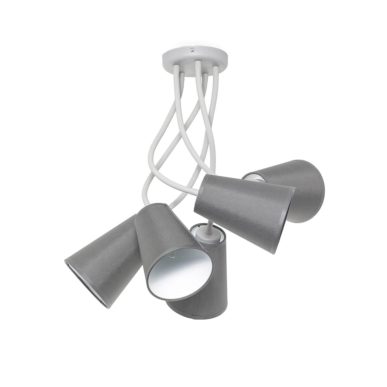 Wohnzimmer Deckenleuchte Grau Weiß Metall Modern