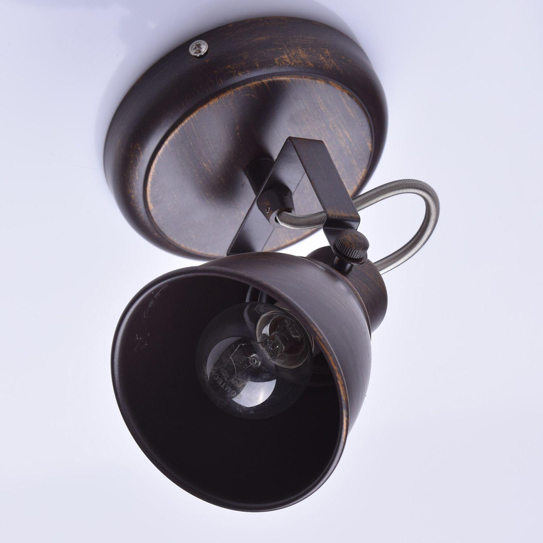 Deckenstrahler Spot Braun Metall verstellbar