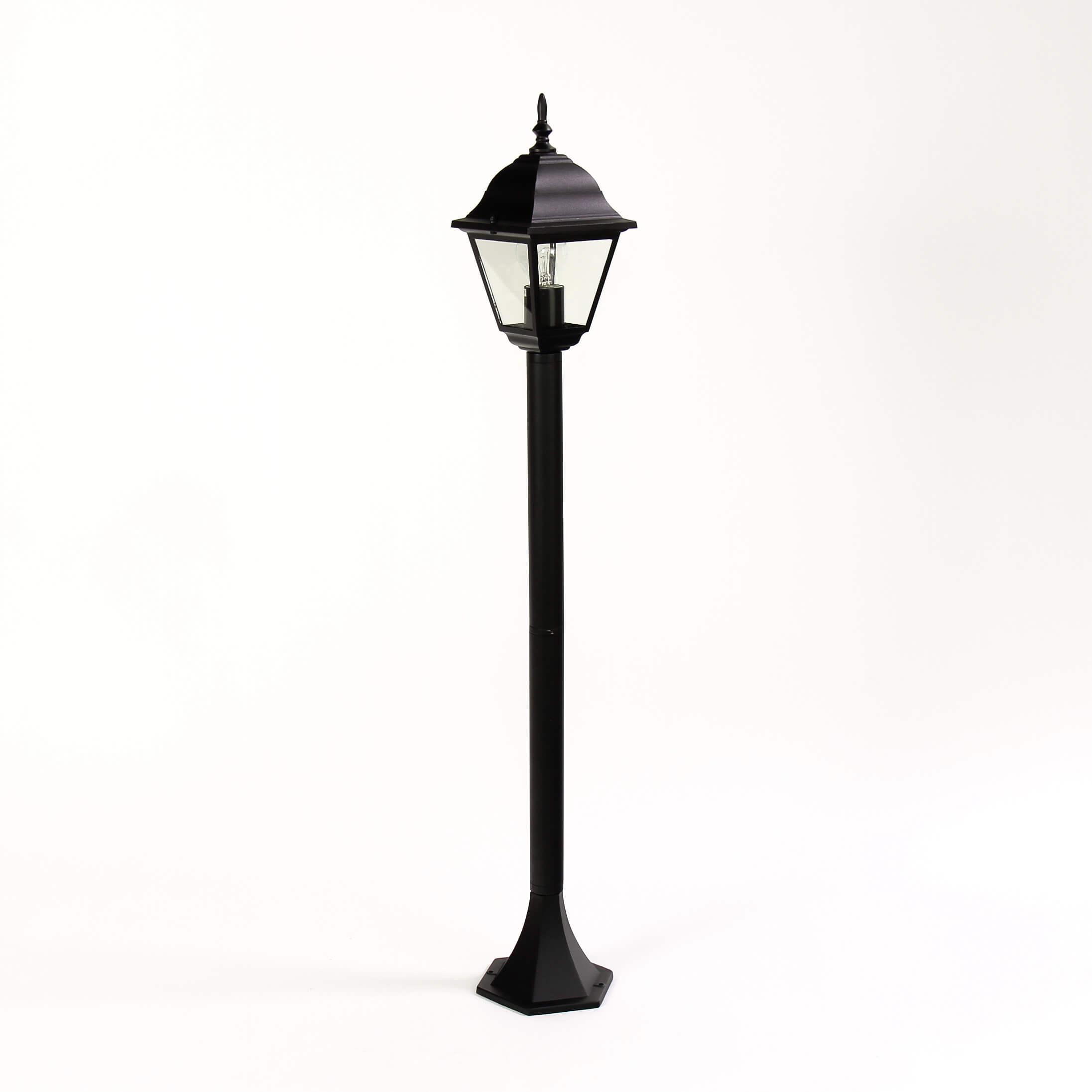 Schwarze Stehleuchte Außen ROM H:105cm E27 Laterne