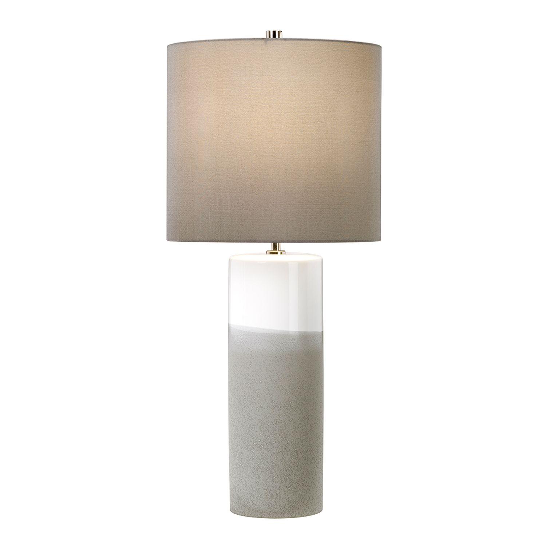 Tischlampe VASO Keramik Grau H:68cm Nachttisch