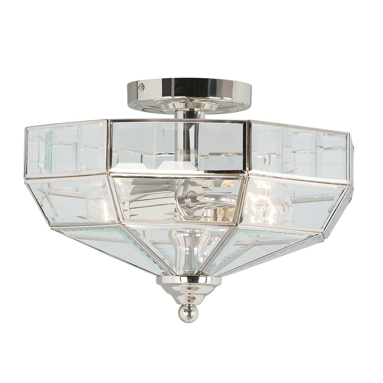 Deckenleuchte HESU Nickel Ø32cm 2xE27 Design Lampe