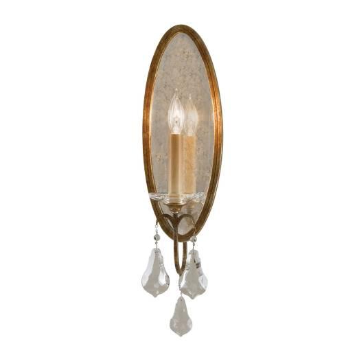 Wandlampe CANDELA 14 in Antik Bronze B:27cm Lampe