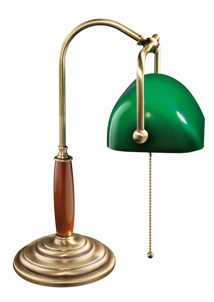 Bankerlampe Bronze Hell Handarbeit Art Déco