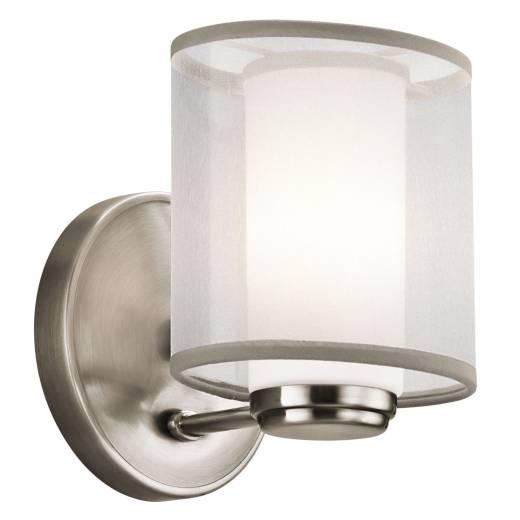 Wandleuchte HIRA Weiß Metall Organza B:13cm Lampe