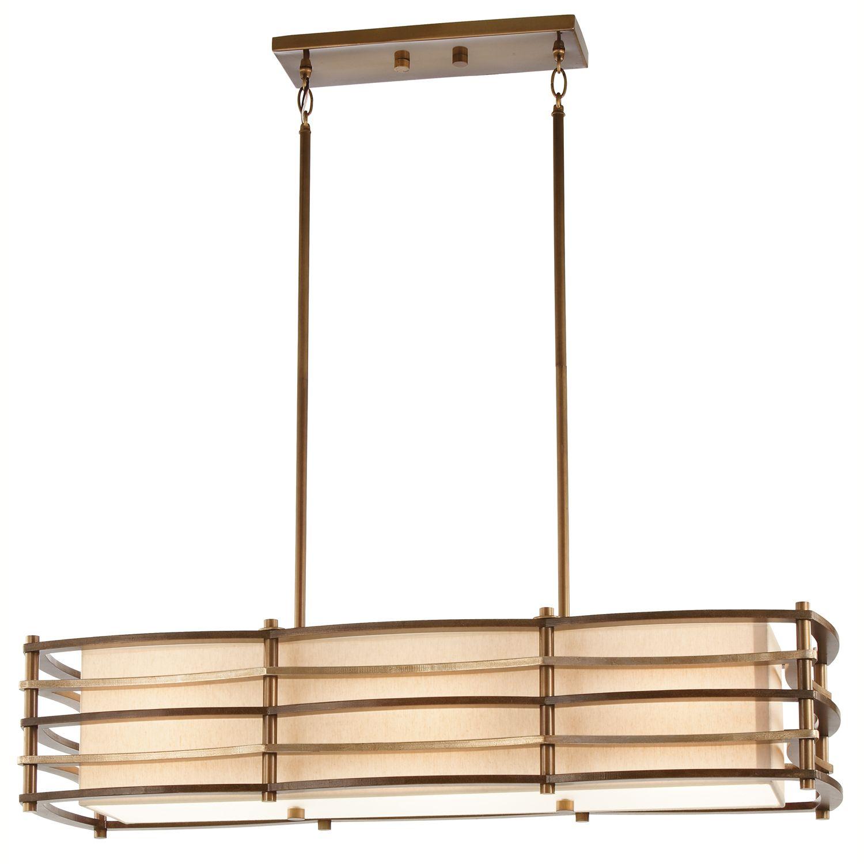 Deckenleuchte KIKI Bronze B:91cm kürzbar Design Lampe