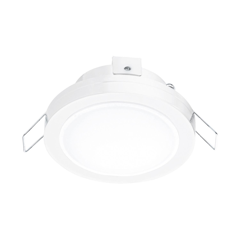 Zeitloser Einbau LED Spotstrahler Pineda Weiß Ø8cm