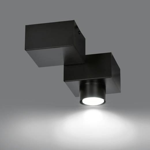 Deckenleuchte Modern Schwarz Metall Eckig GU10