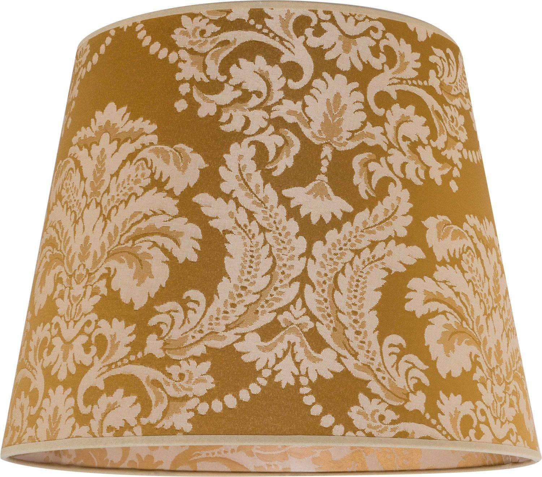Lampenschirm Gold Stoff Muster E27 Pendelleuchte