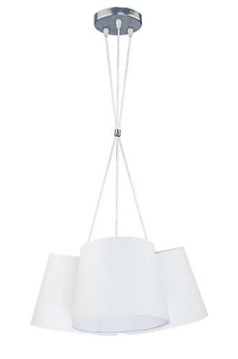 Weiße Hängeleuchte Stoff Ø72cm ERIKA Esstisch