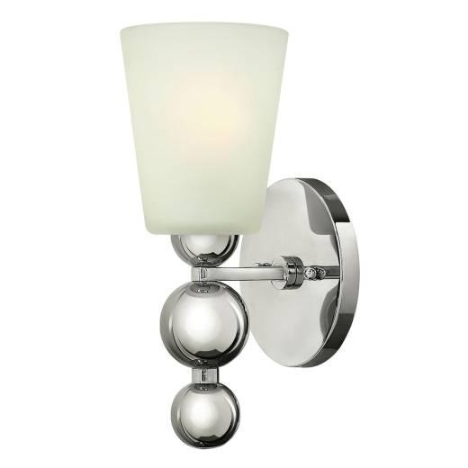 Wandleuchte ROMINA in Nickel B:14cm Vintage Lampe