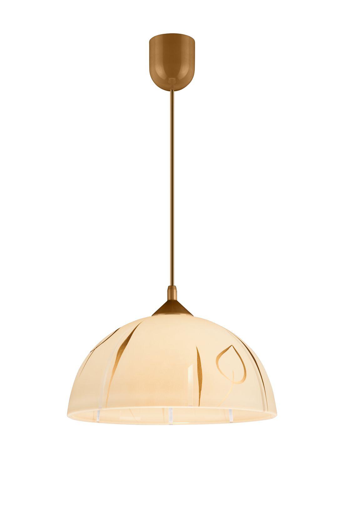Hängeleuchte Rund Gold Retro Esstisch Glas Lampe