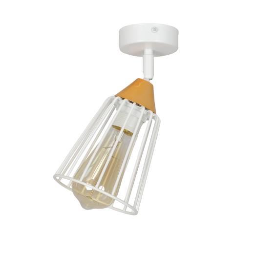 Käfiglampe verstellbar Weiß Kupfer Wand oder Decke