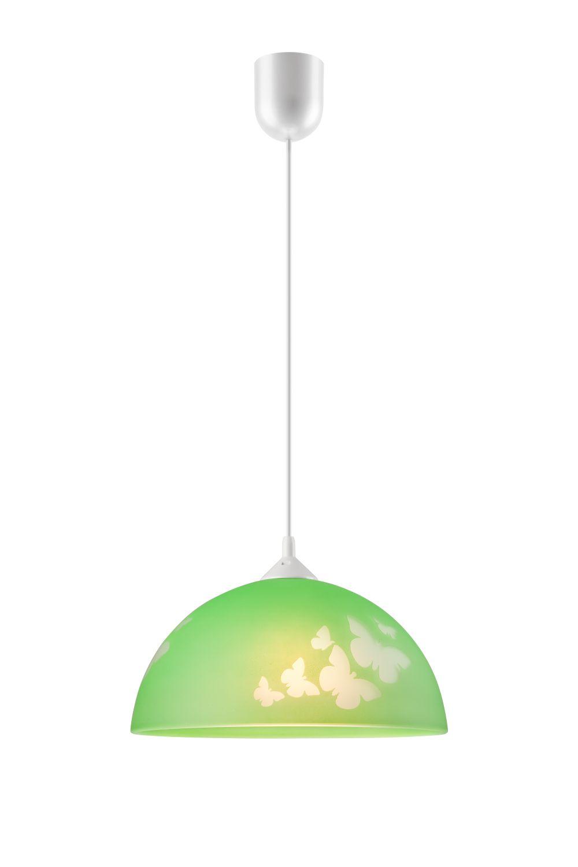 Grüne Kinderzimmerlampe rund Mädchen farbenfroh