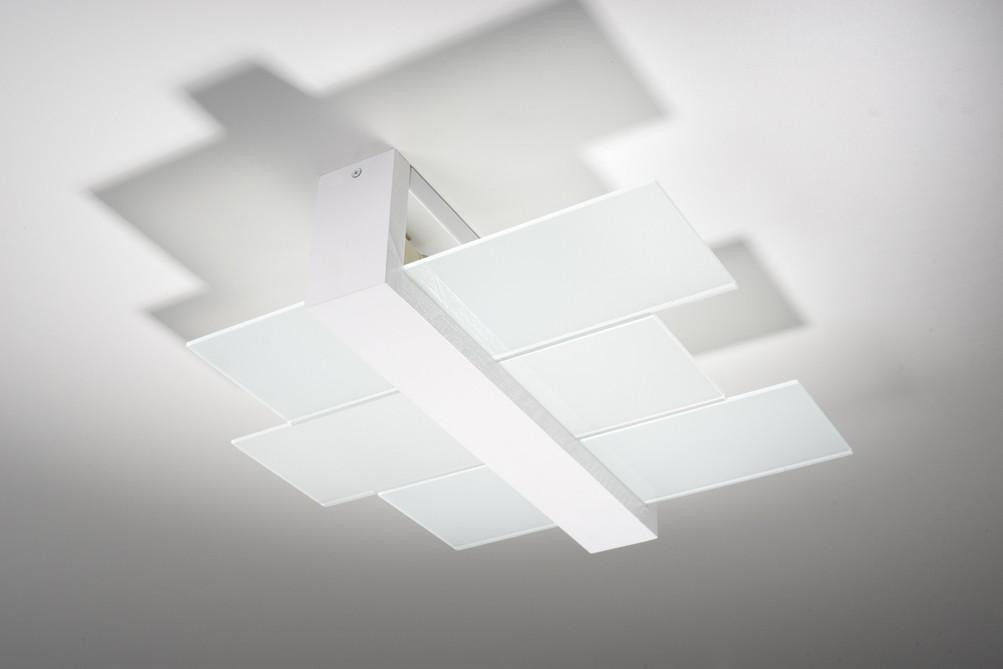Deckenleuchte LEDA in Weiß 2-flmg