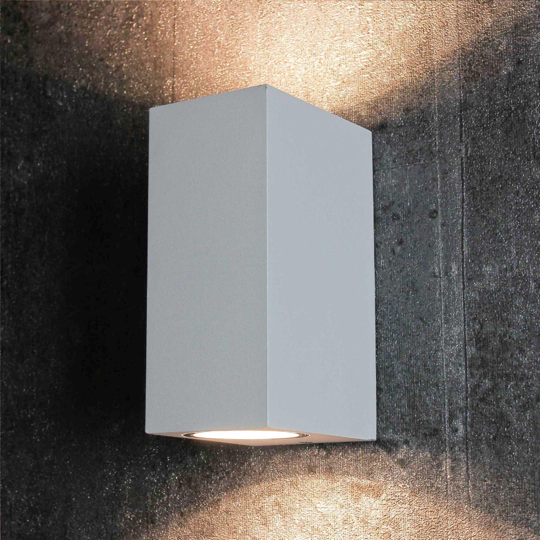 Moderne Außenlampe AALBORG Up & Down Aluminium