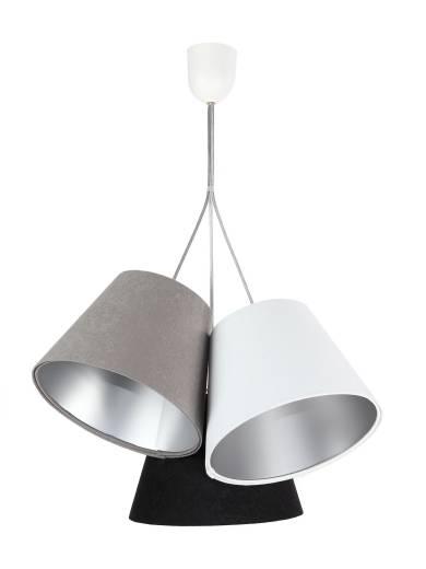 Pendelleuchte Retro Grau Silber Schwarz 3-flmg