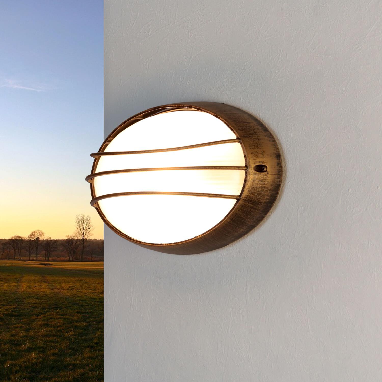 Halbrunde Außen Feuchtraumlampe HEKTOR Antik