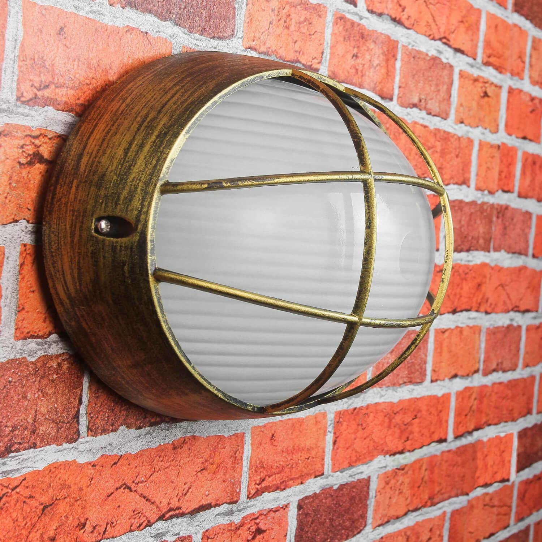 Maritime Außen Beleuchtung für die Wand E27 B:32cm