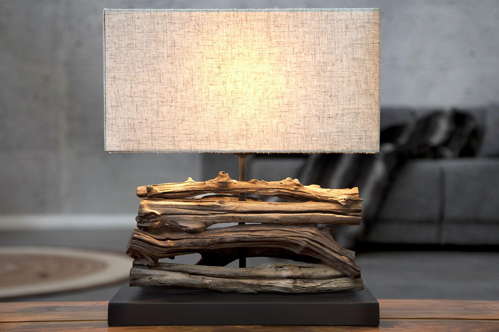 Natürliche Tischlampe Modern kunstvoll 40cm Treibholz