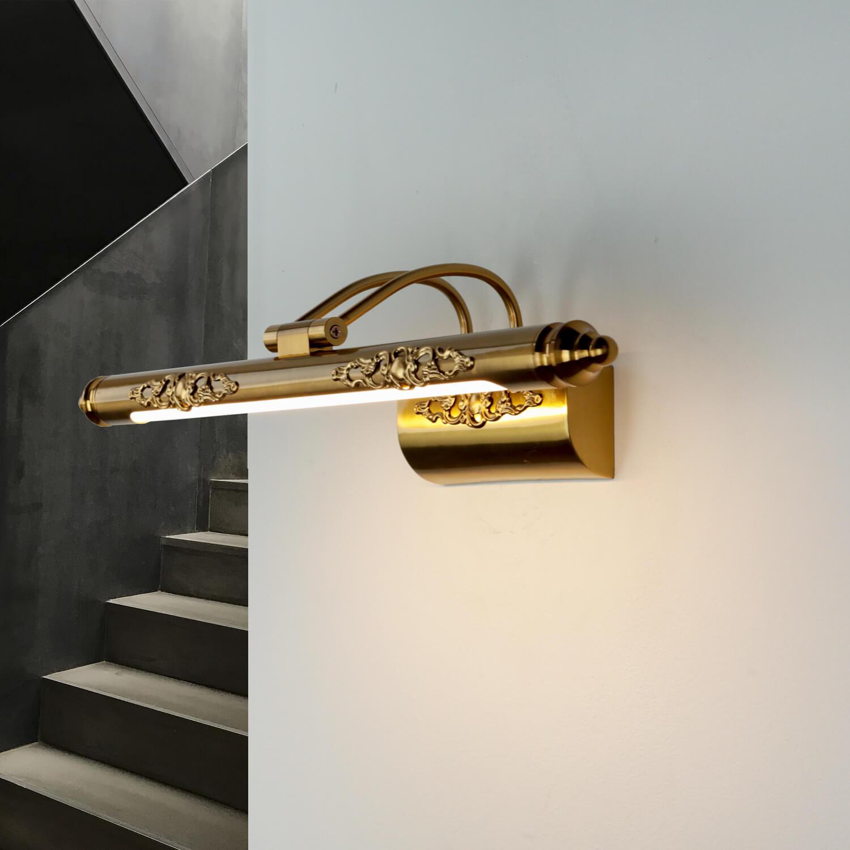 LED Bilderleuchte Jugendstil Metall in Bronze PICASSO