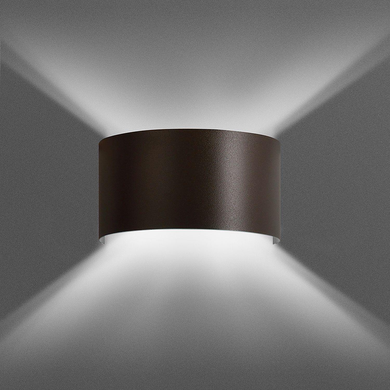 Up Down Wandlampe XANDER Braun indirektes Licht