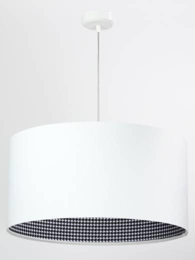 Hängeleuchte Esstisch Weiß Stoff rund Lampe