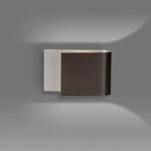 Moderne Wandlampe Braun Metall up and down G9