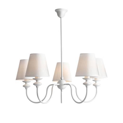 Deckenleuchte Stoff Schirm FARFALLA Rustikal Lampe