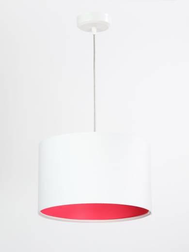 Pendelleuchte Weiß Stoff Esstischlampe rund