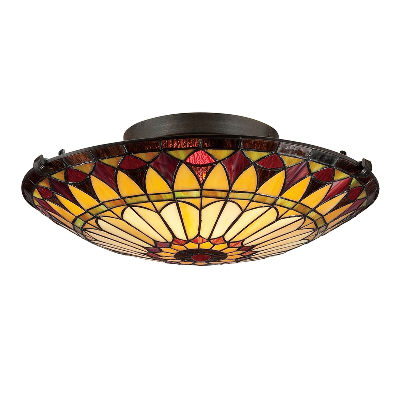 Deckenleuchte FARFALLA 10 Buntglas Tiffany Lampe