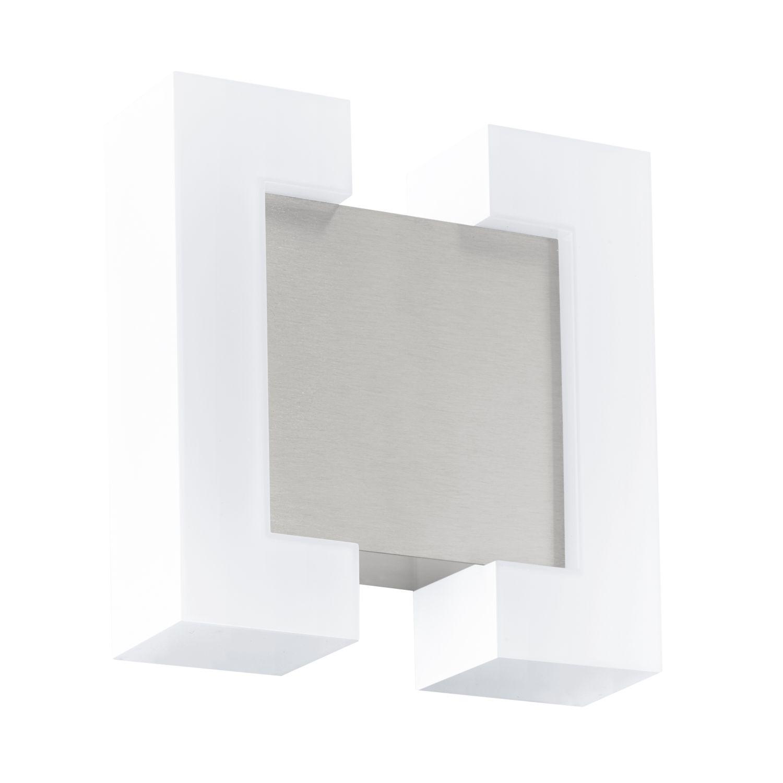 Quadratische Wandleuchte LED Außen Sitia Nickel