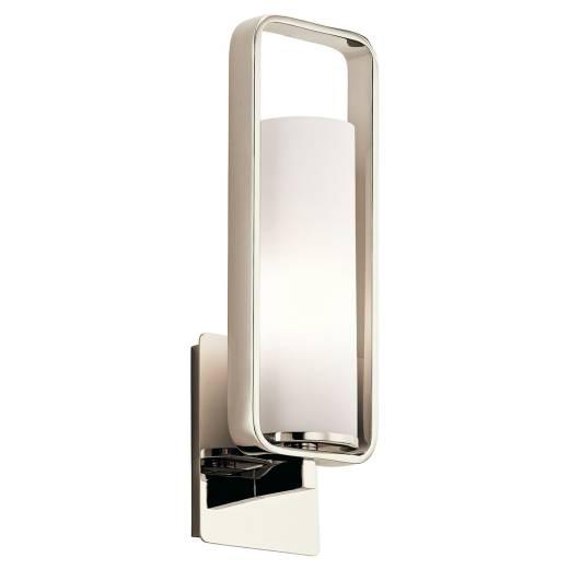 Wandleuchte mit Schirm Glas Metall Modern Design Flur