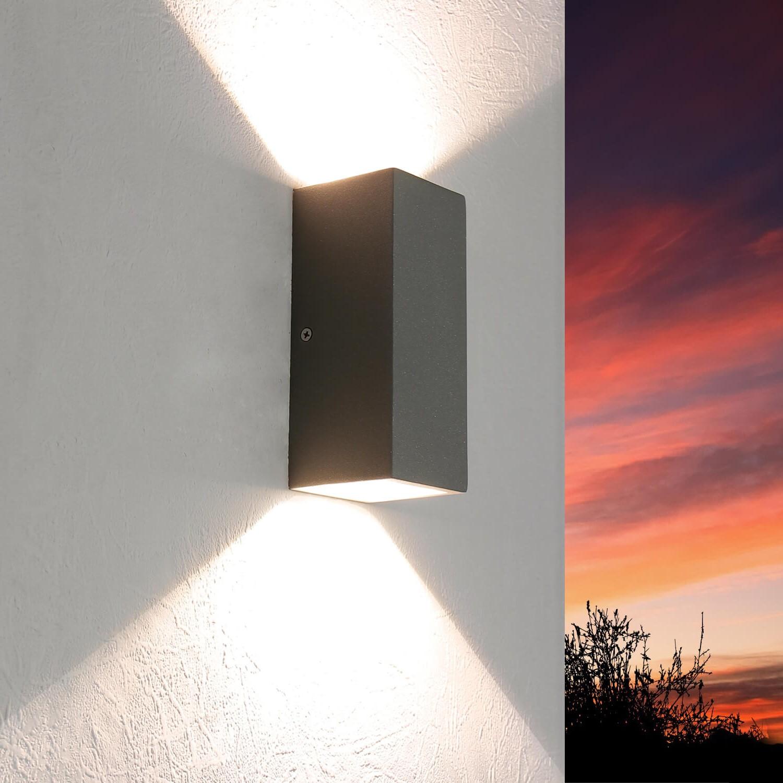 LED Außenwandleuchte Up Down IP44 Haus Fassade