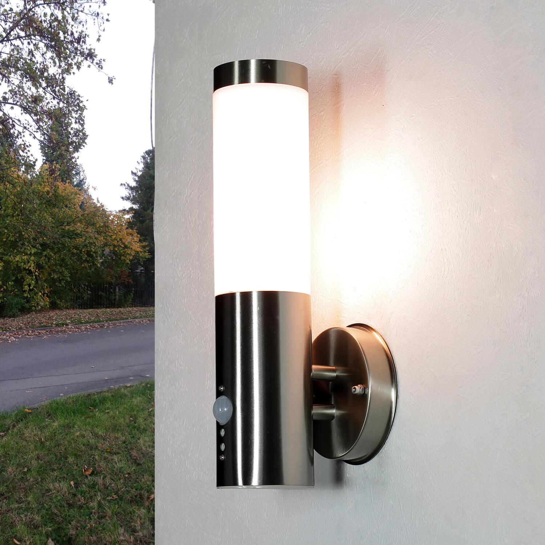 Außenlampe mit Bewegungssensor Edelstahl IP44