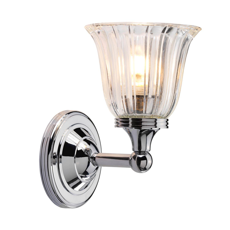 Messing Wandleuchte LED in Chrom Badezimmer VARIETY