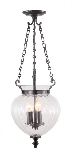 Deckenleuchte CANDELA 6 Bronze Ø28cm 3xE14 Lampe