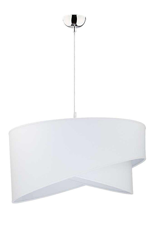 Weiße Hängeleuchte Stoff rund Ø45cm Modern